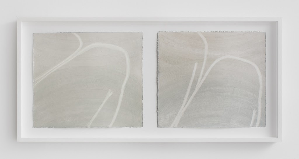 Untitled (legs) , 2013, Diptych, oil on paper (framed), 19 x 34 inches