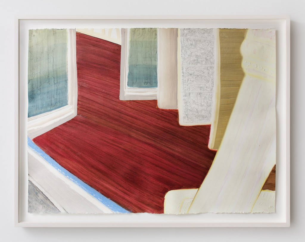 Dunrobin , 2013, Oil and pastel on paper (framed), 24 x 32 inches
