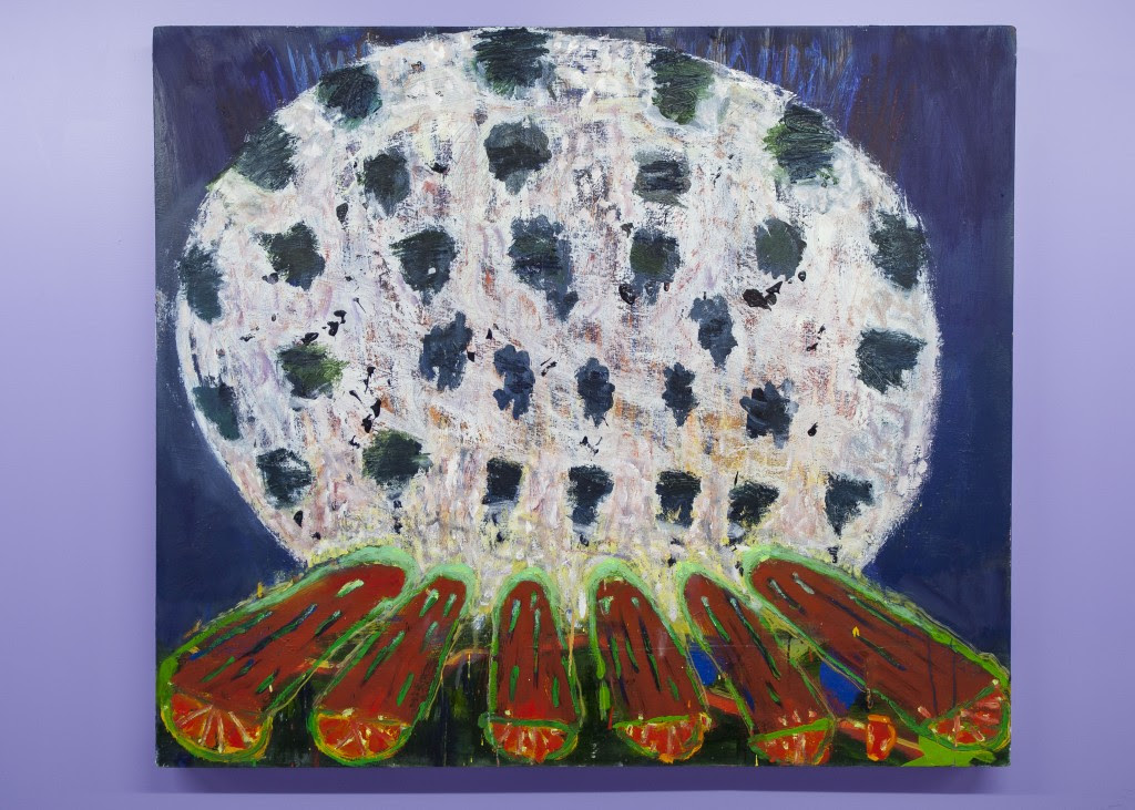 Katherine Bradford. Night Fire , 2013, Oil on canvas, 39 x 45 inches