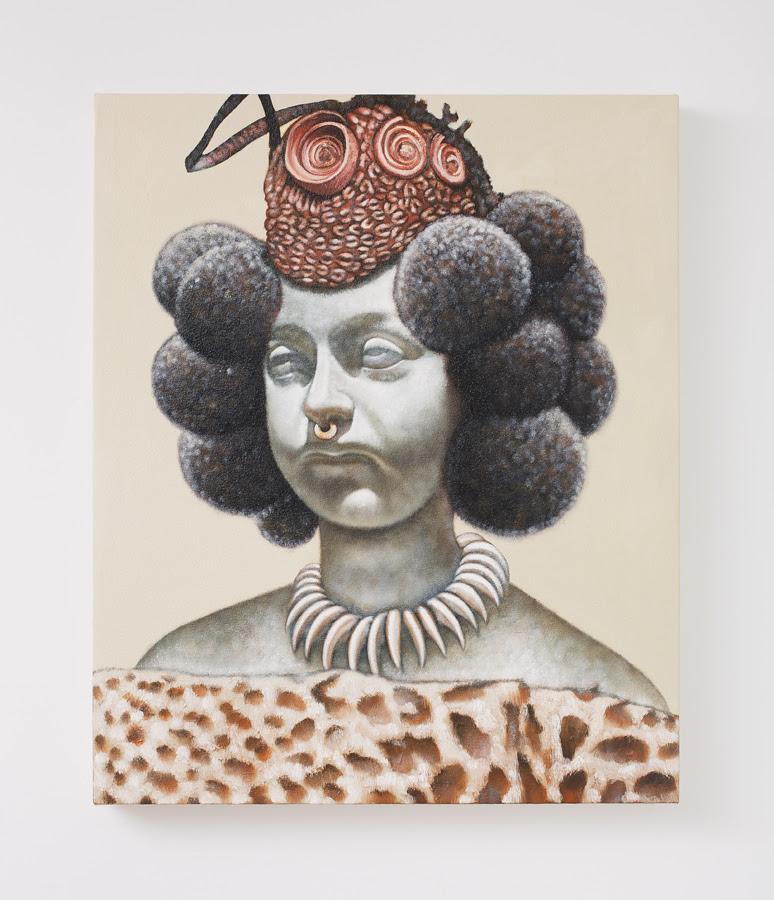 Kajahl Benes. Queen Calafia , 2012, Oil on canvas, 25 x 21 inches