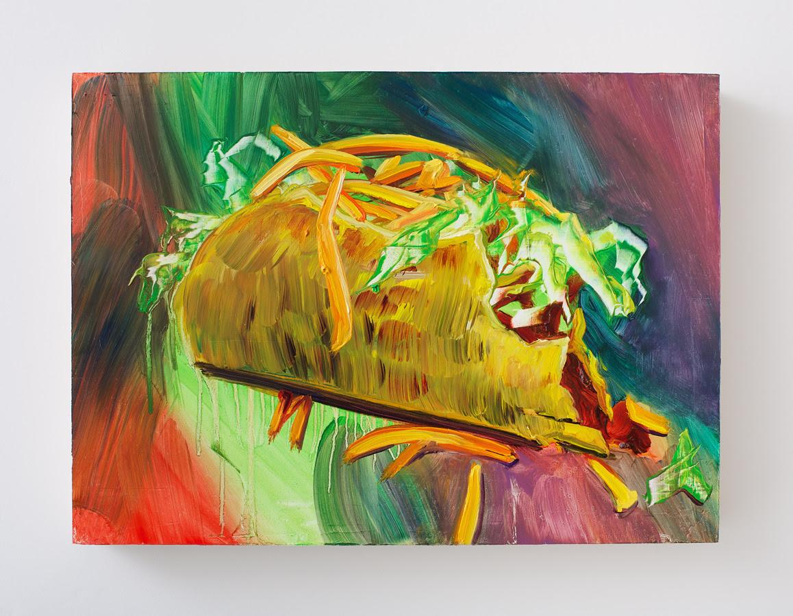 Rachel Schmidhofer. Taco Supreme , 2012, Oil on panel, 10 x 15 inches