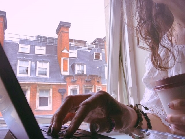 Once upon a foggy London morning, starting my day with coffee and words.