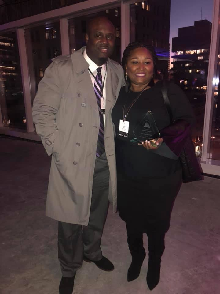Mr. and Mrs. Tony Turnage at the Downtown Partnership of Baltimore award ceremony