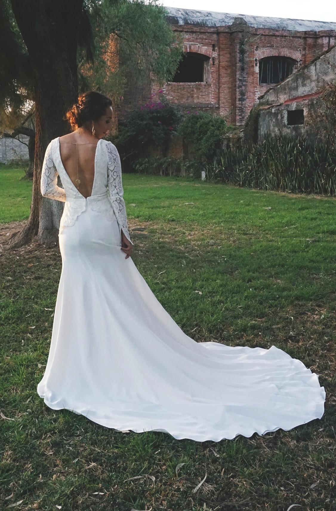 Edith Elan Bibi Long Sleeve Lace Modern Vintage Wedding Gown 49.JPG