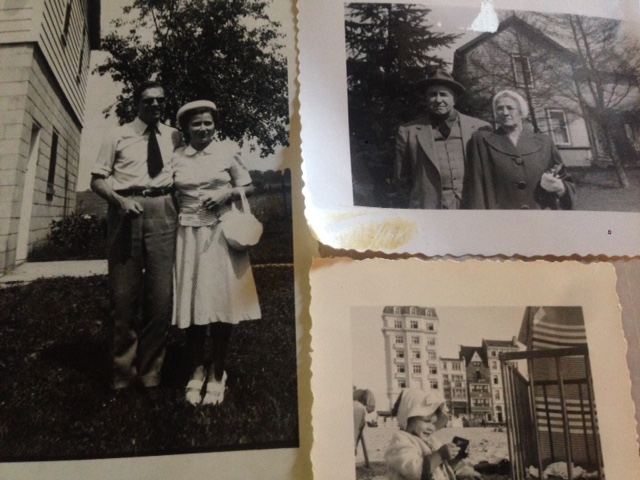 My grandma and grandpa in front of their house, my father and mother leaving on their honeymoon, and I,as the third generation, at the beach in Belgium.