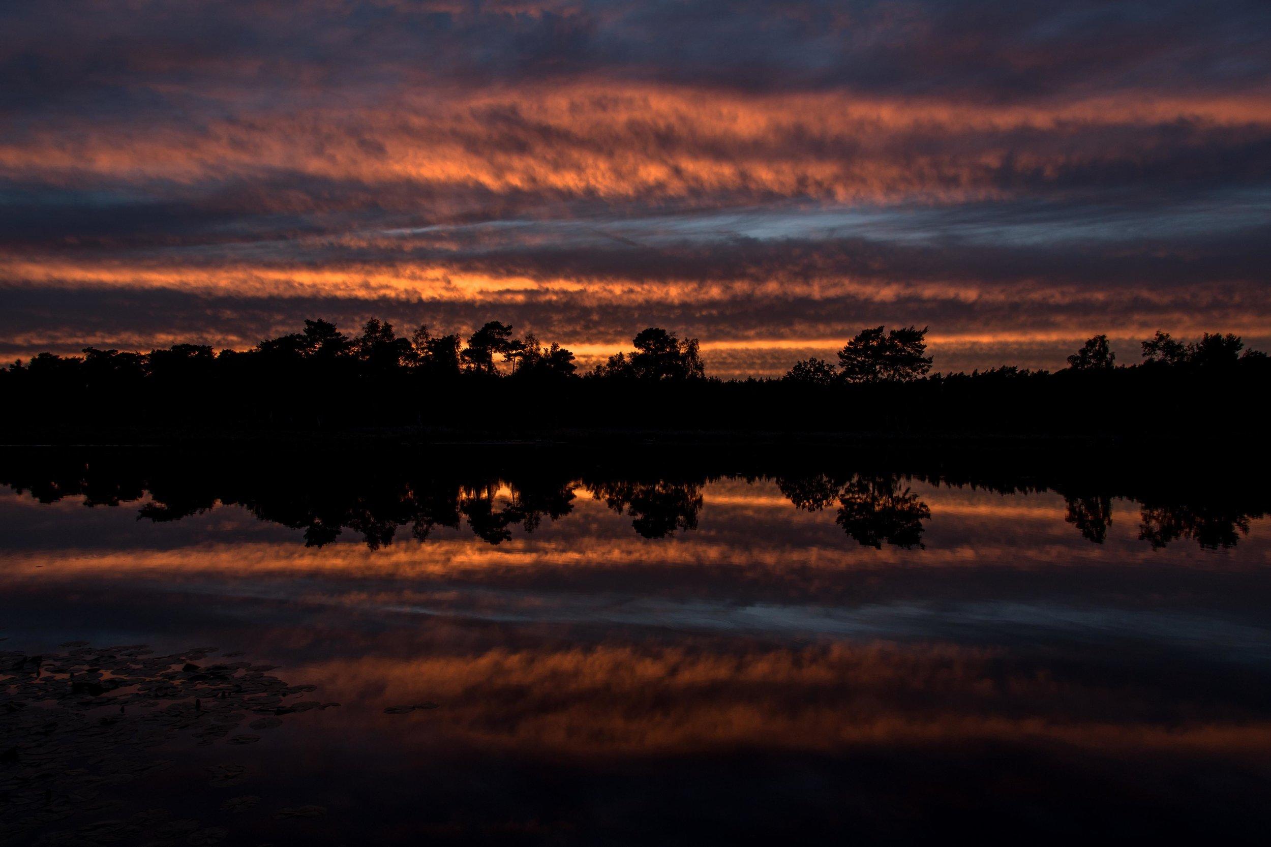 Sunset on the Beegderheide.