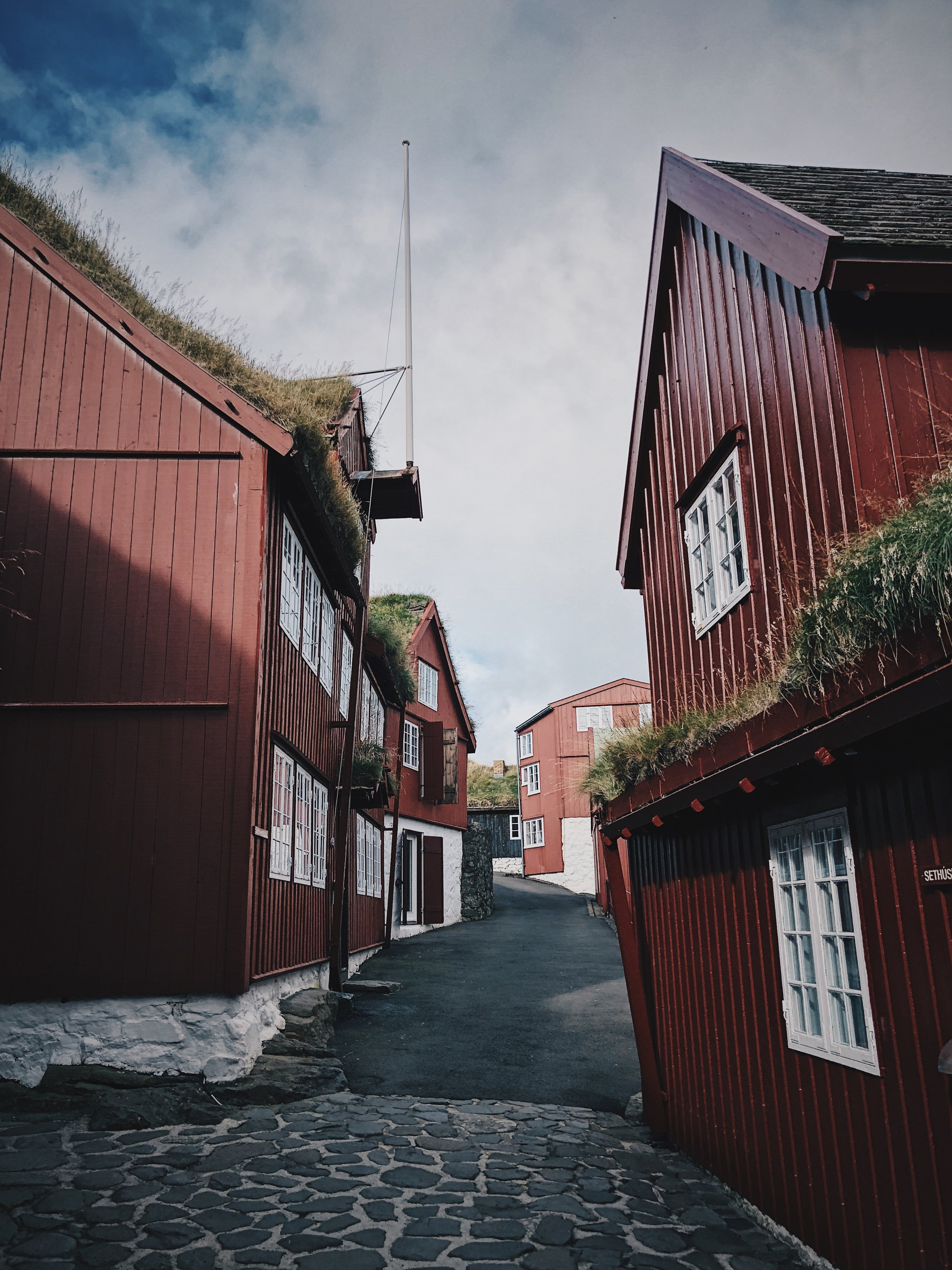 Tinganes, the old and very cozy area of Tórshavn. Tinganes is the historic location of the Faroese landsstýri (government)