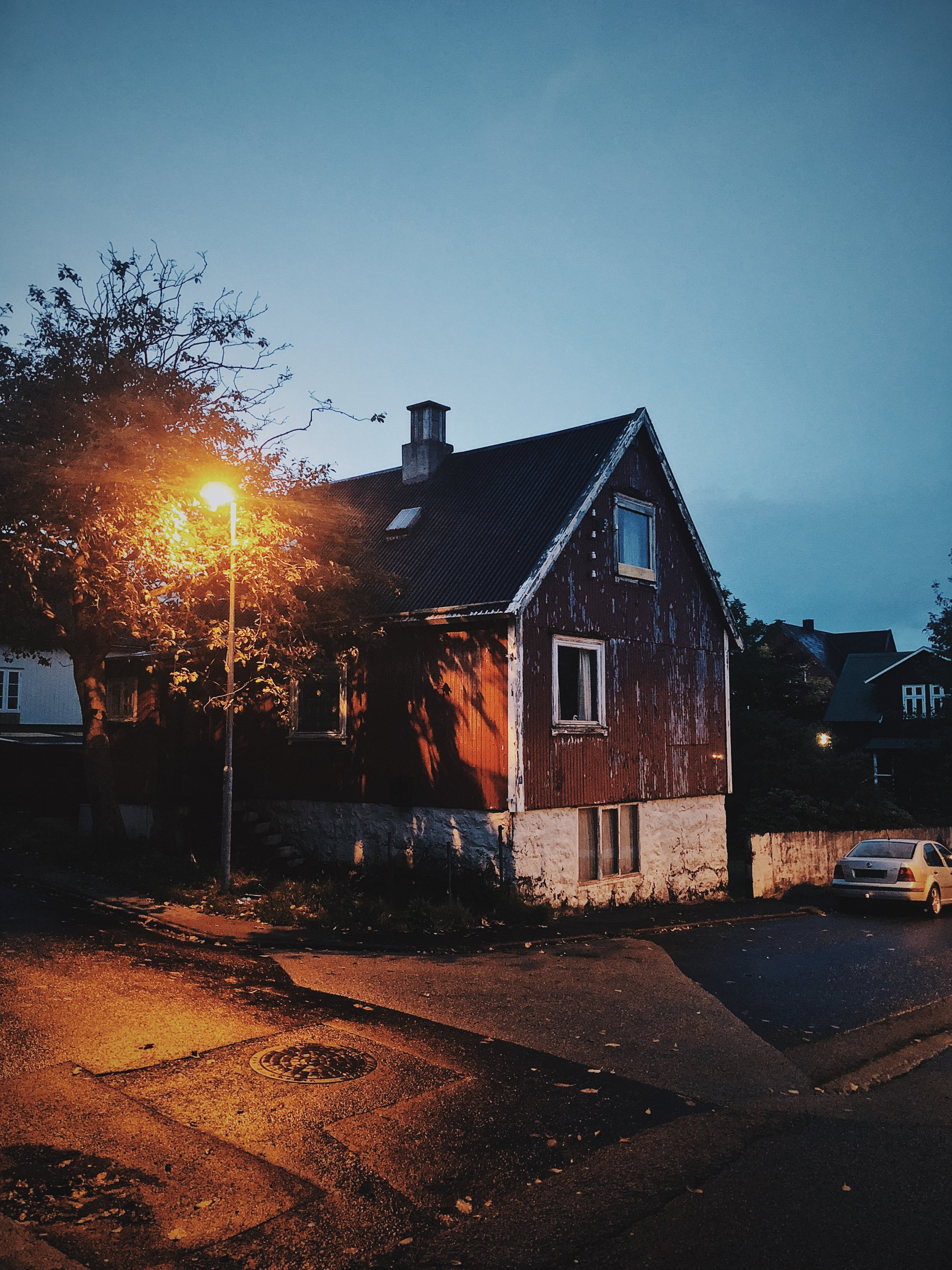 Tórshavn by night. This was the street I stayed on during my visit.