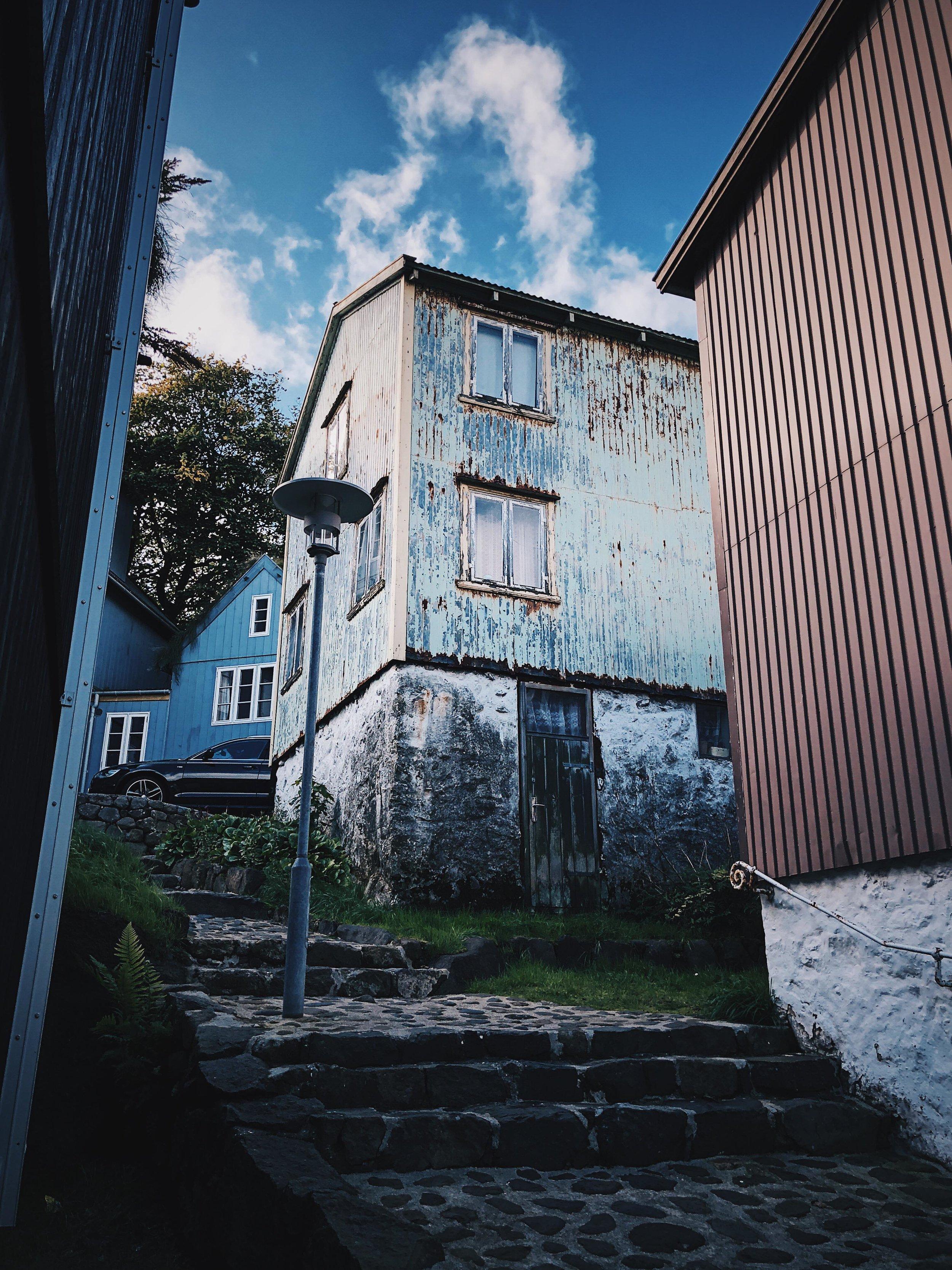 Typical street scene in Tórshavn