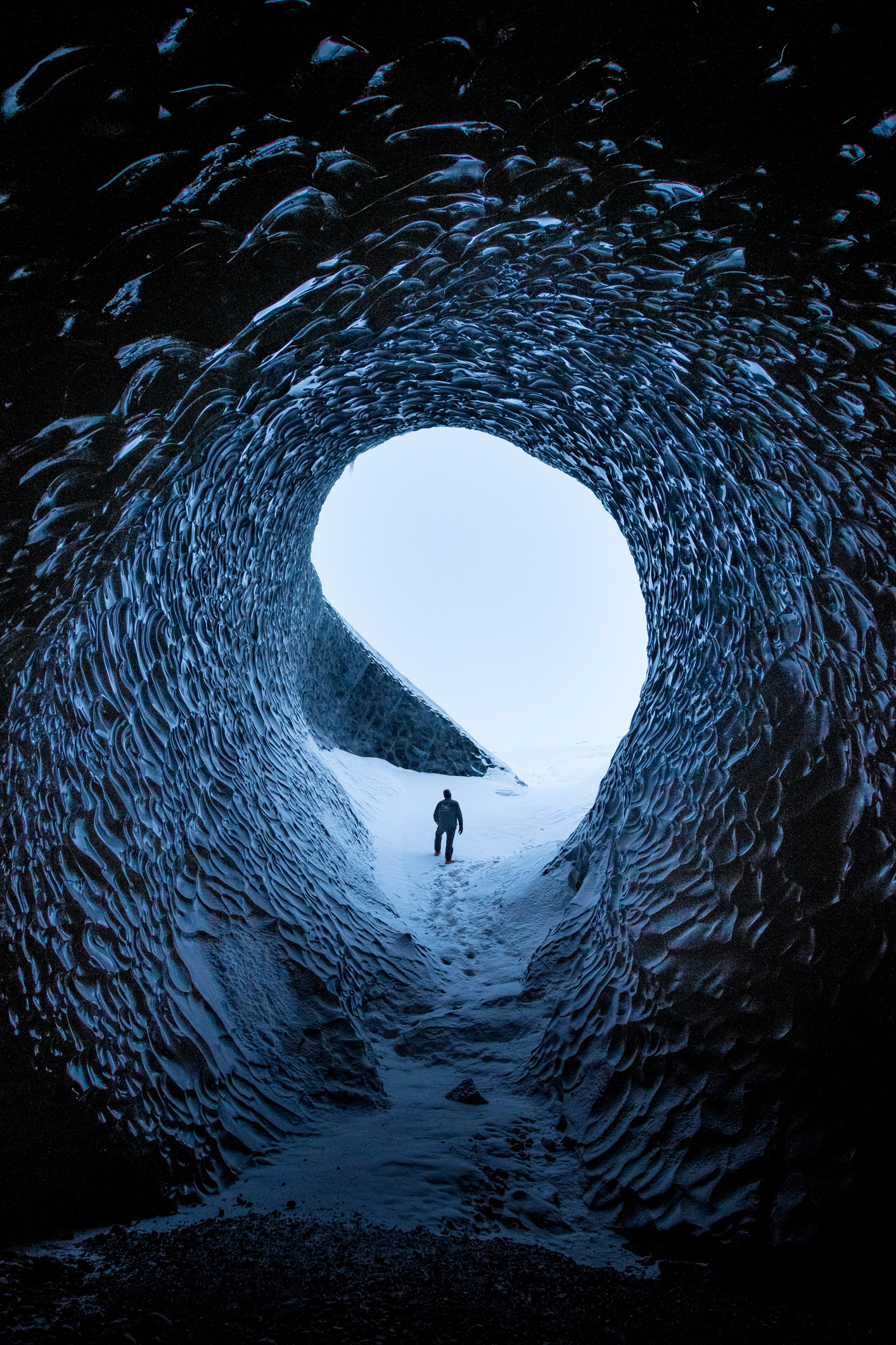 Siggi inside the Anaconda Ice cave.