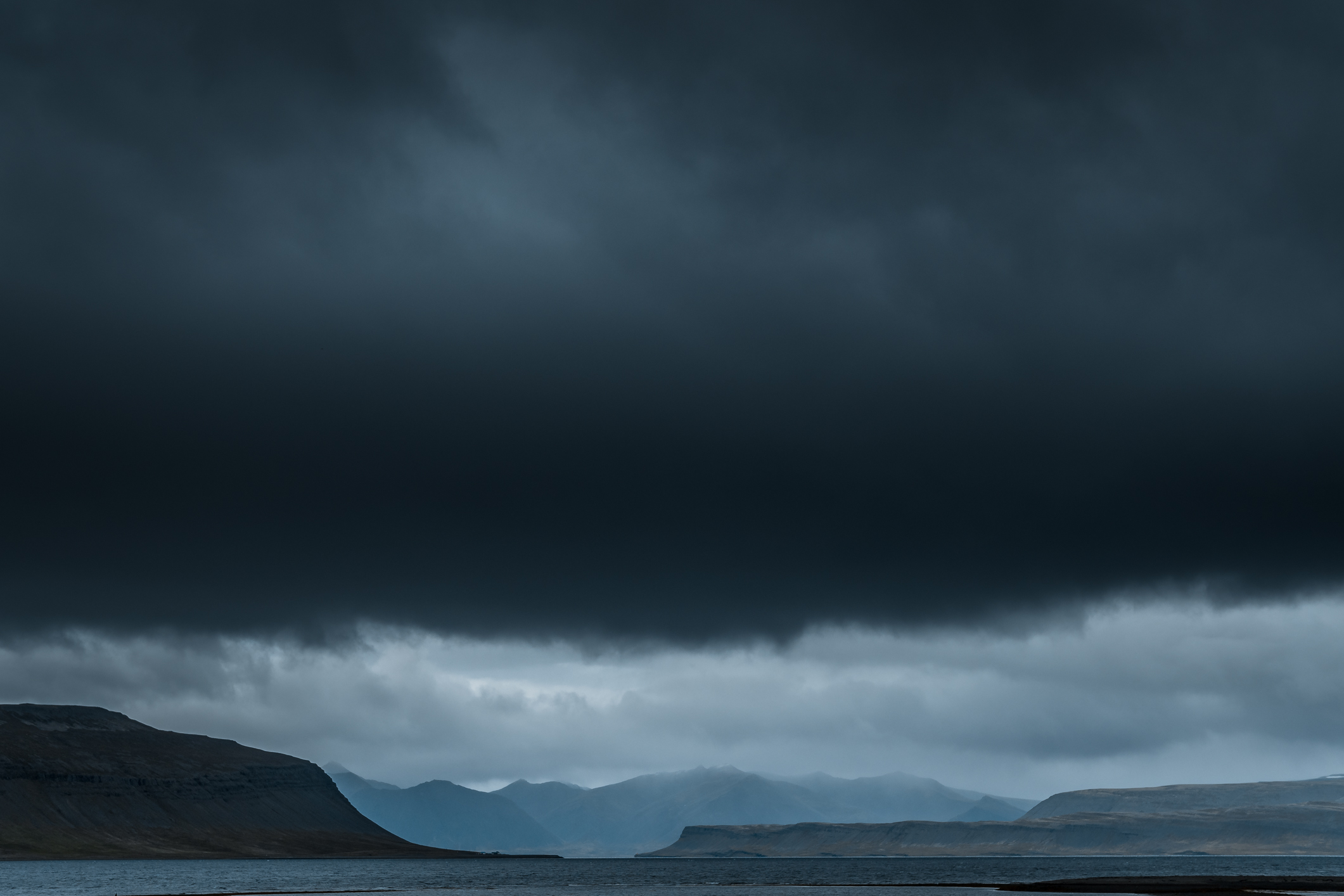 Fossfjörður, beautiful vast and wide fjord.