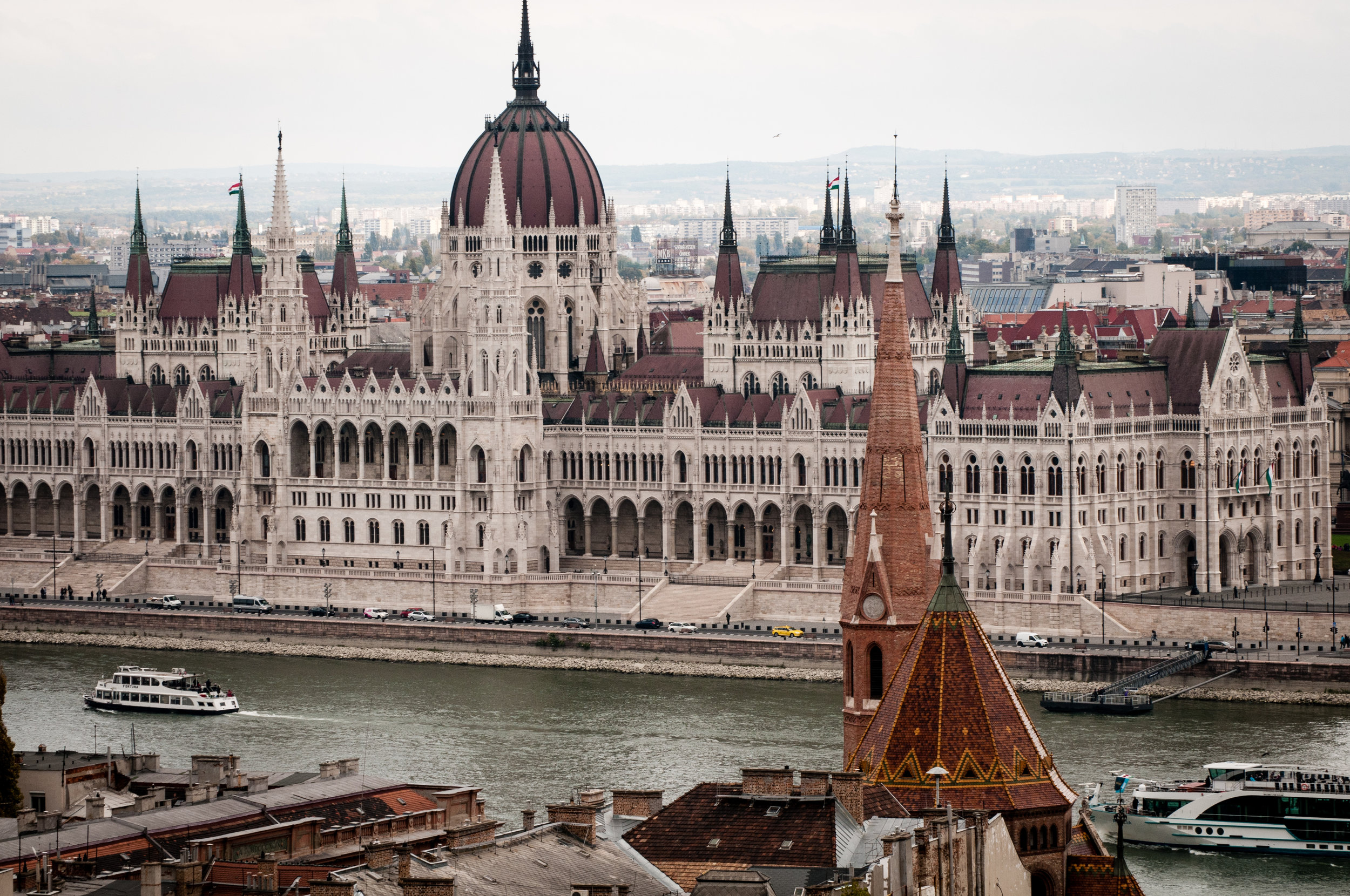 Parliament Building and the River Danube, Budapest