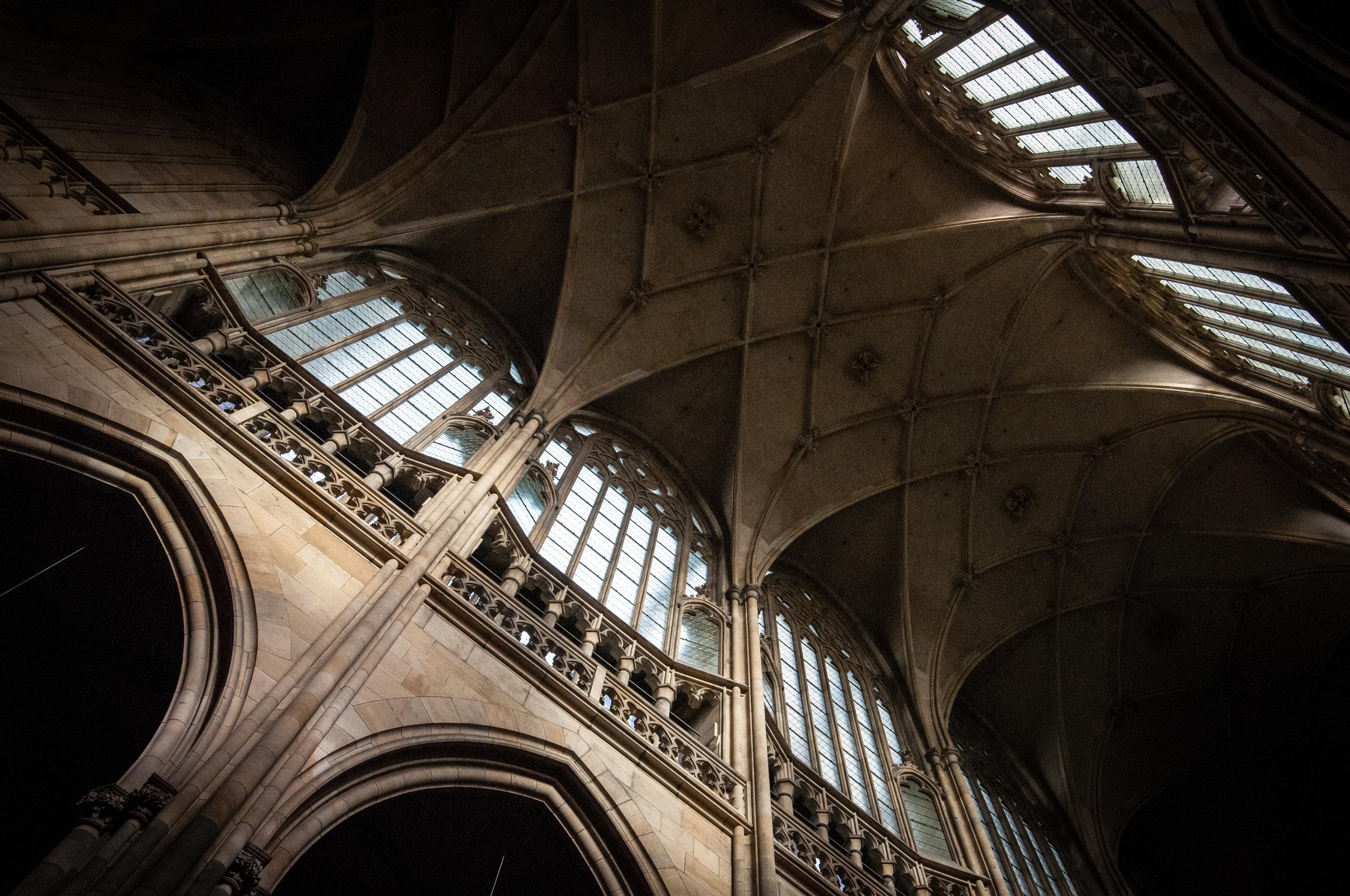 Interior Details, St. Vitus Cathedral, Prague