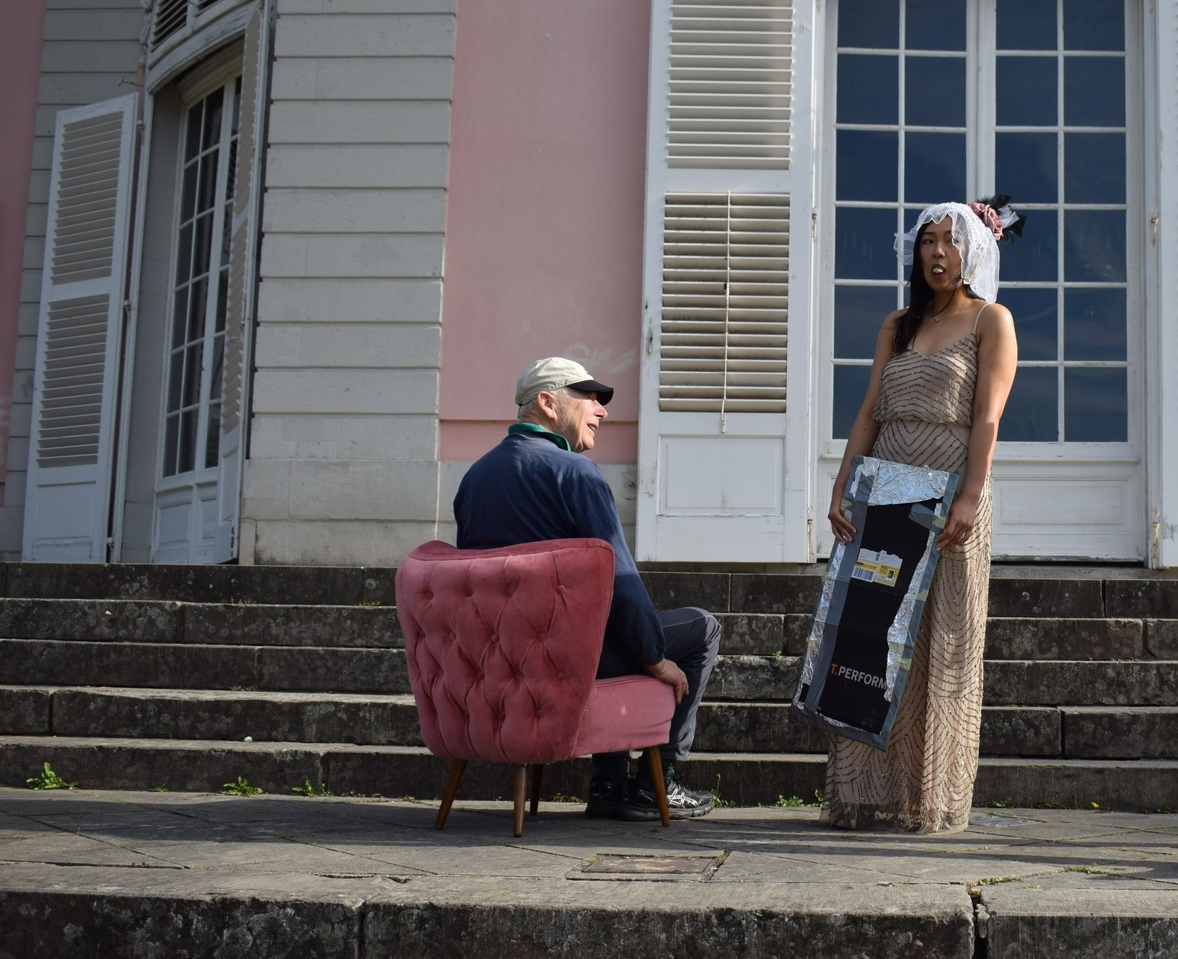 lynda sparshatt pink accent chair