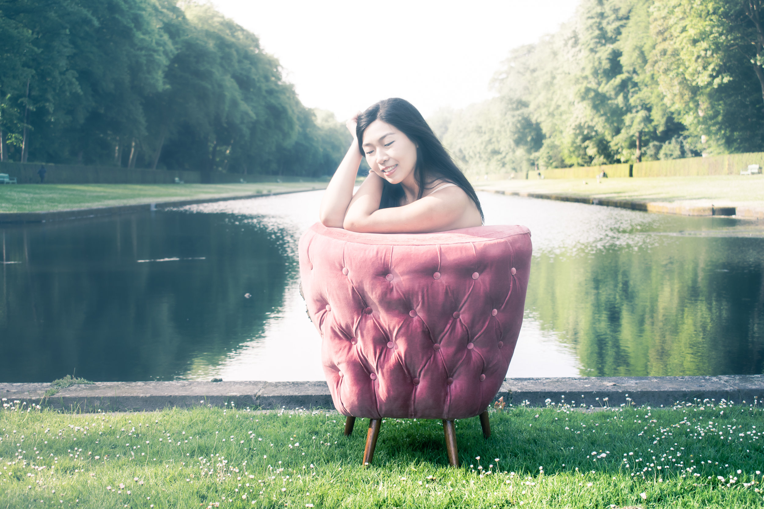millennial pink cocktail chair Lynda Sparshatt