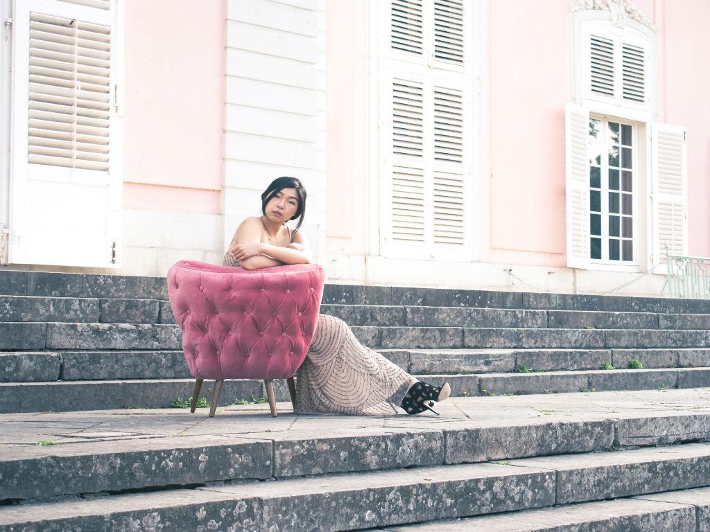 pink velvet accent chair lynda sparshatt