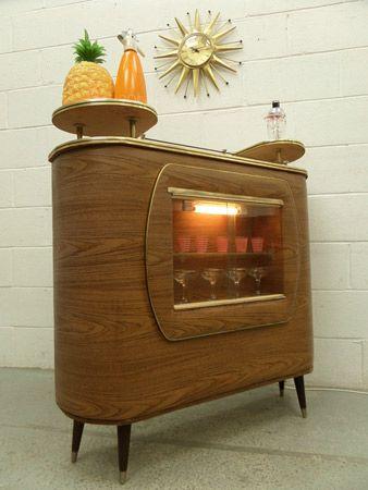 1960's vintage cocktail cabinet
