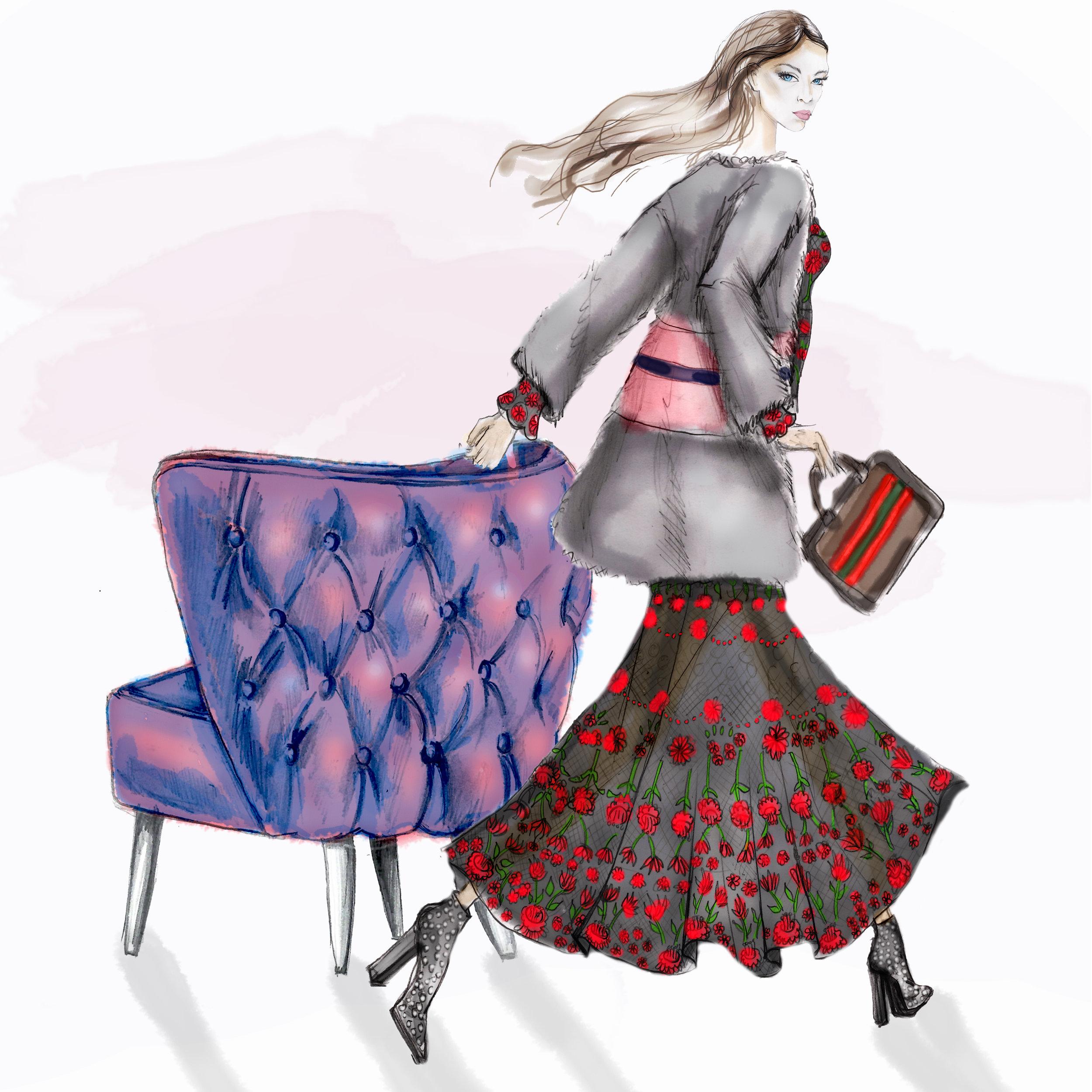 Violet Purple Accent Chair