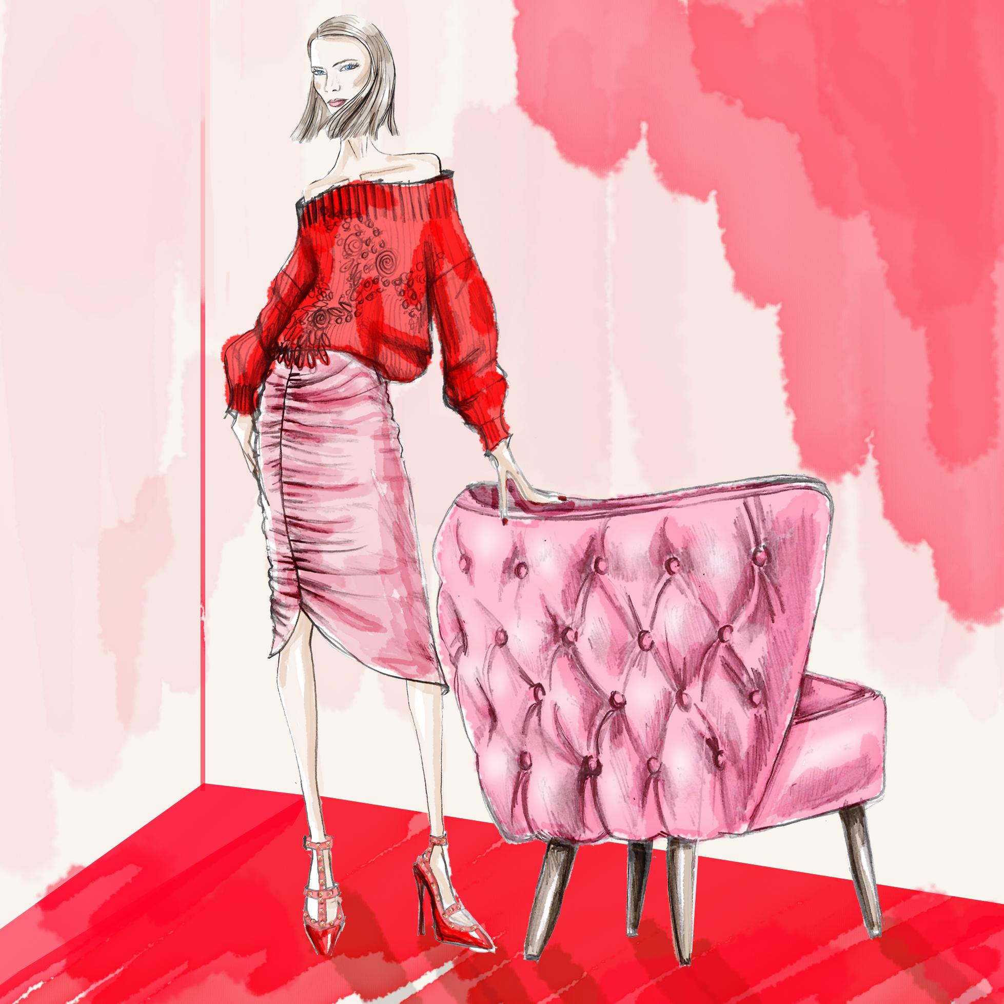 Neeshe New York Pink Chair