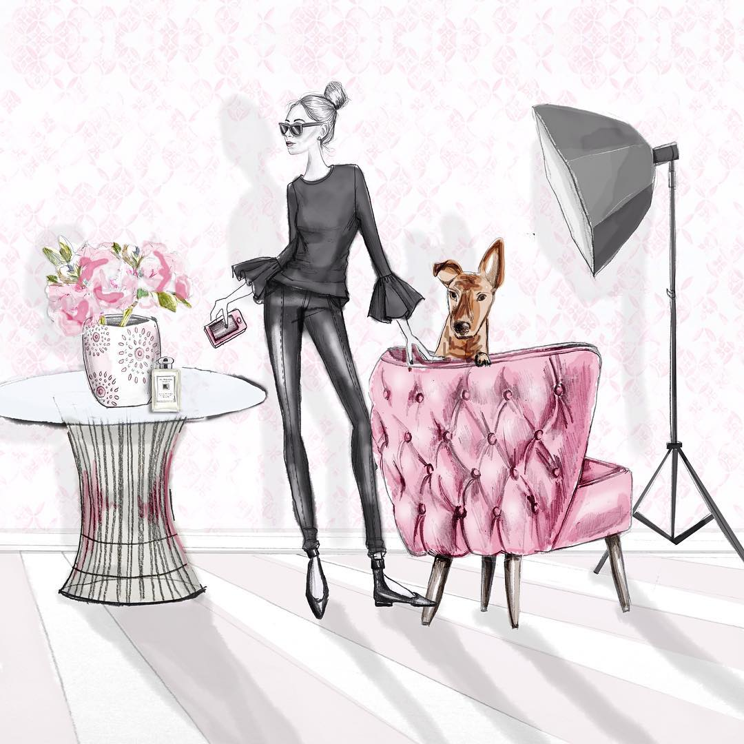 Pink chair and Career Girl