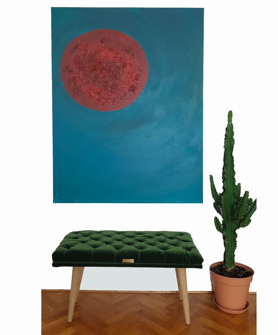 velvet green ottoman and art.jpg