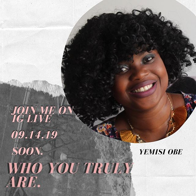 "It is almost 12pm, please be my guest. We will be talking on ""Who You Truly Are"" come with your questions. I promise not to take too much of your time. 😁😁. See you soon. 💡Tag a friend, Share and 🔔turn on your notification, #yemisiobe  #readingthebibletogether"