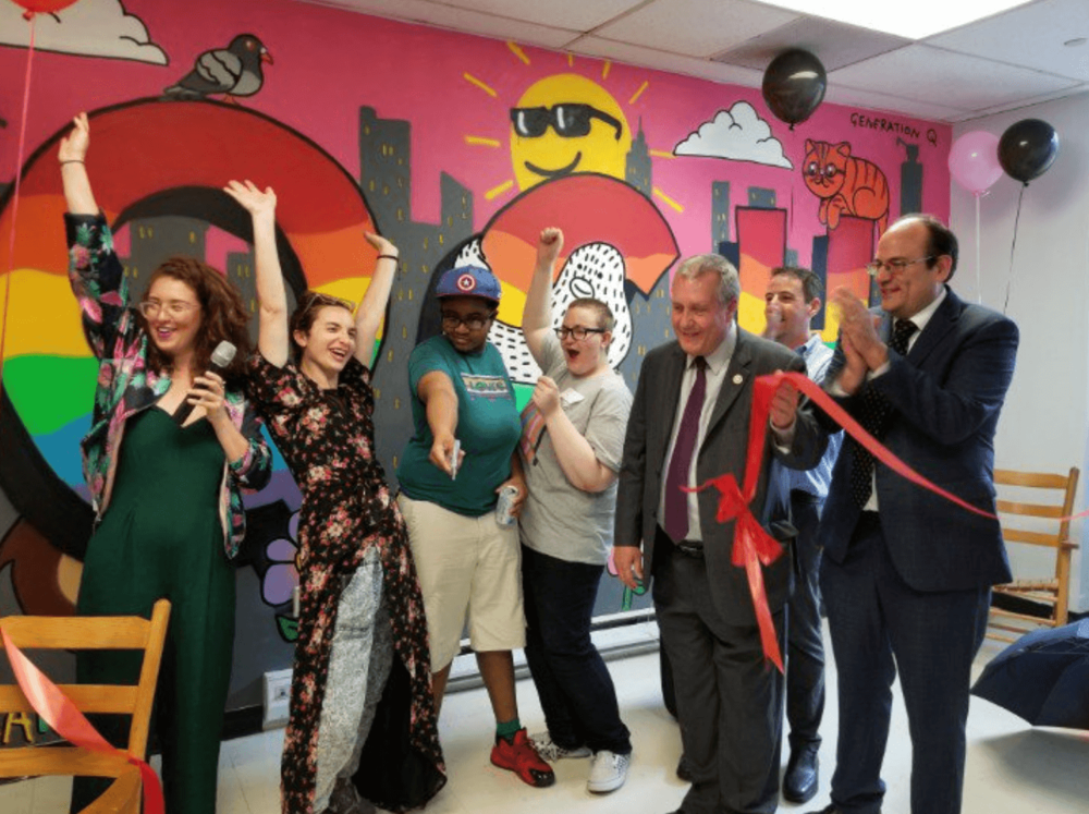 Stonewall grantee, Generation Q, celebrates the opening of their new home at Queens Community House
