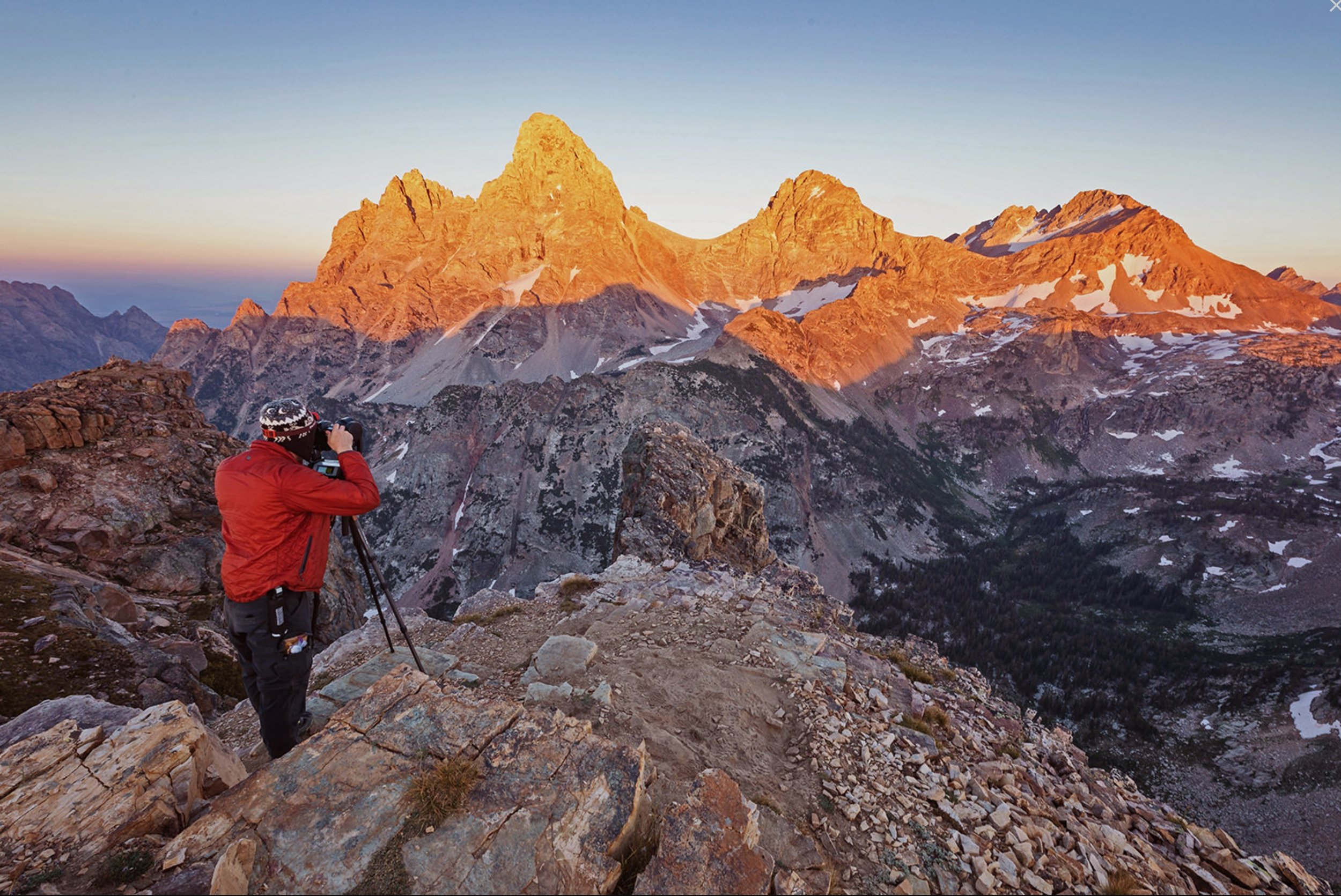 Setting up a photograph from the West side of Grand Teton National Park on August 21, 2017. (c) Chris Fabregas