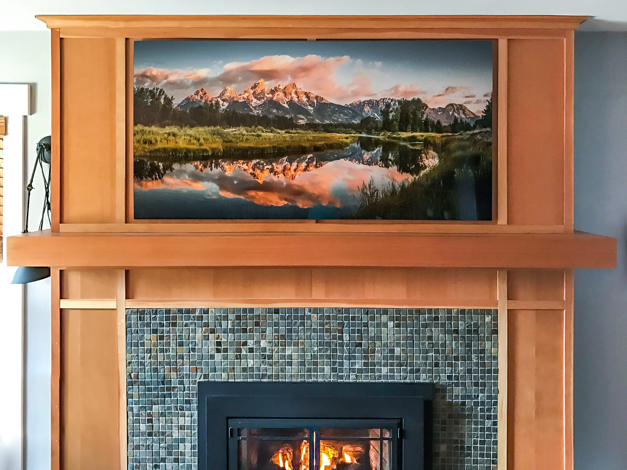"""Here's a 60x30"""" acrylic print hanging at a customer's home."""