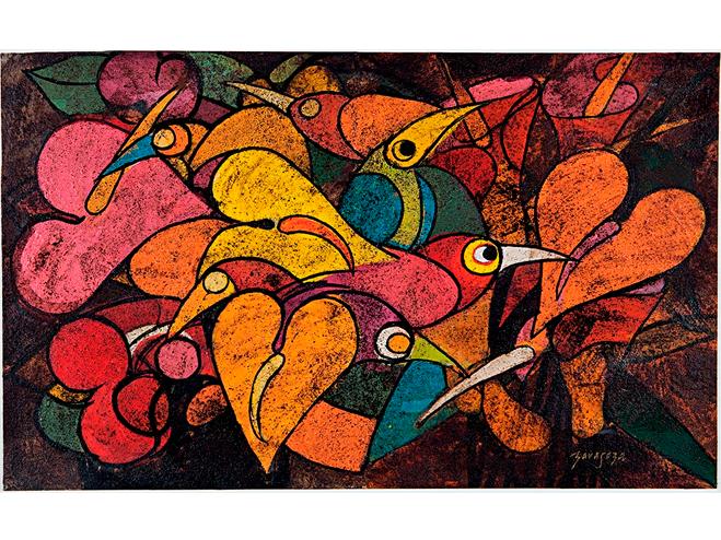 Jos Zaragoza, Pássaros e flores