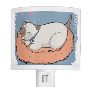 Nora Night Light  - Busy little cats need to sleep, and slumbering Nora will help your little kittens settle into peaceful dreams.