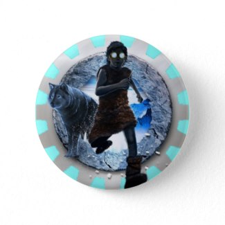 Angus Crystal Button  - The cover artwork for The Crystal Lair (Inventor-in-Training, Book 2)