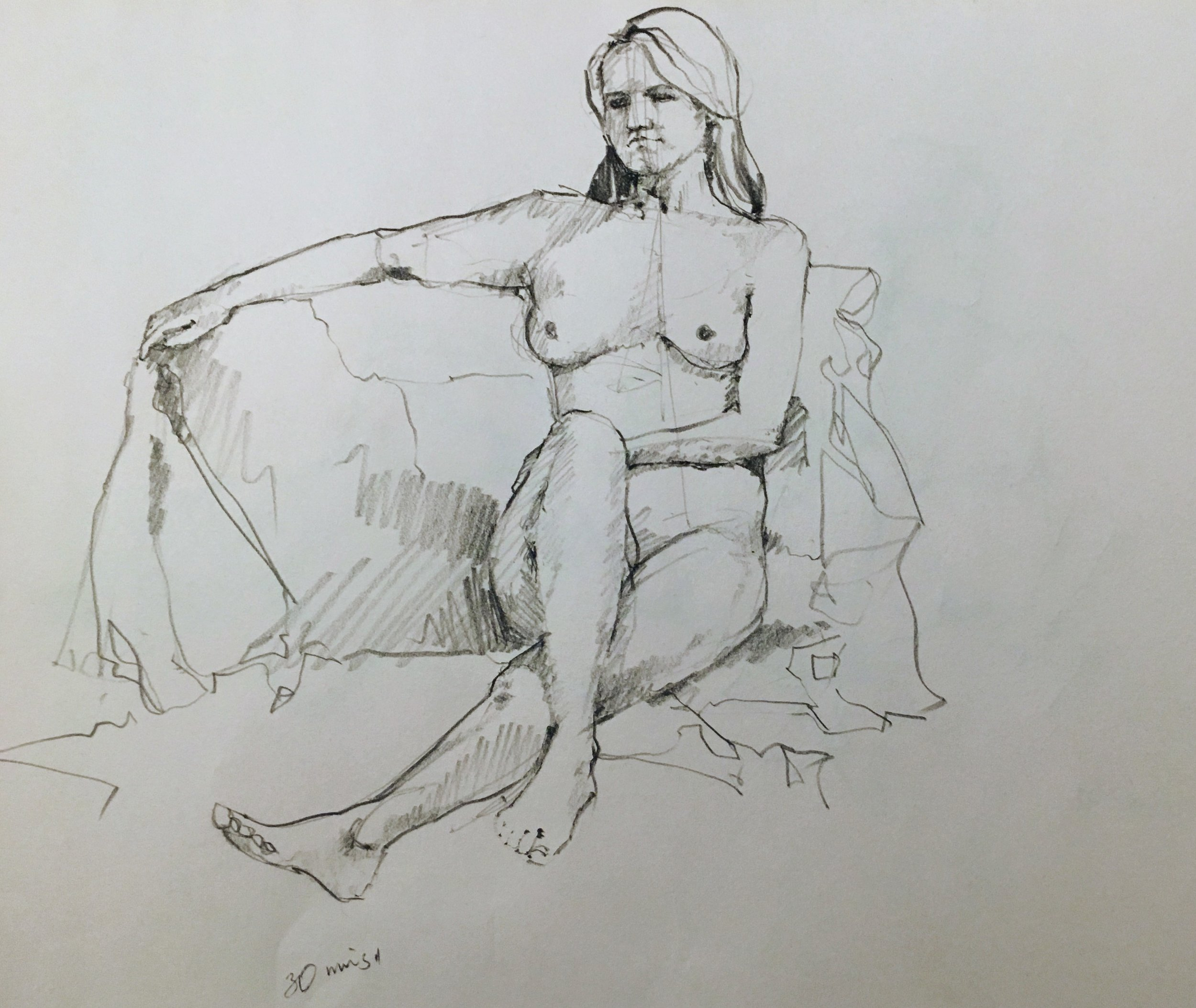Figure Drawing at  Post Road Art