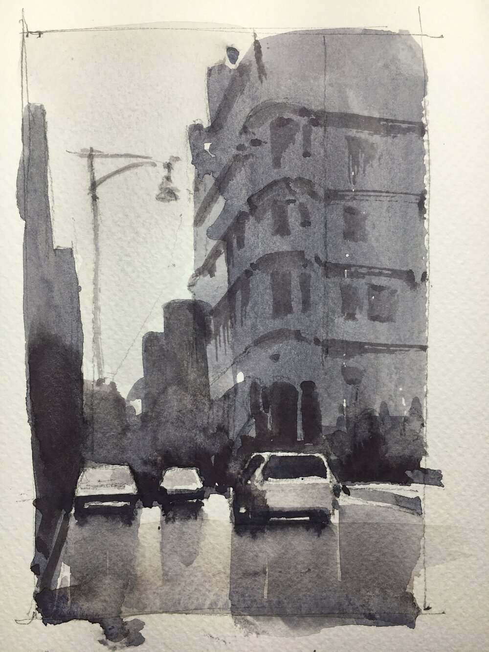 gary_tucker_workshop_rain_new_york_watercolor