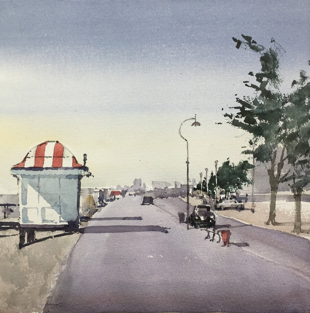 Dunedin, Florida. Michele Clamp. Watercolor.