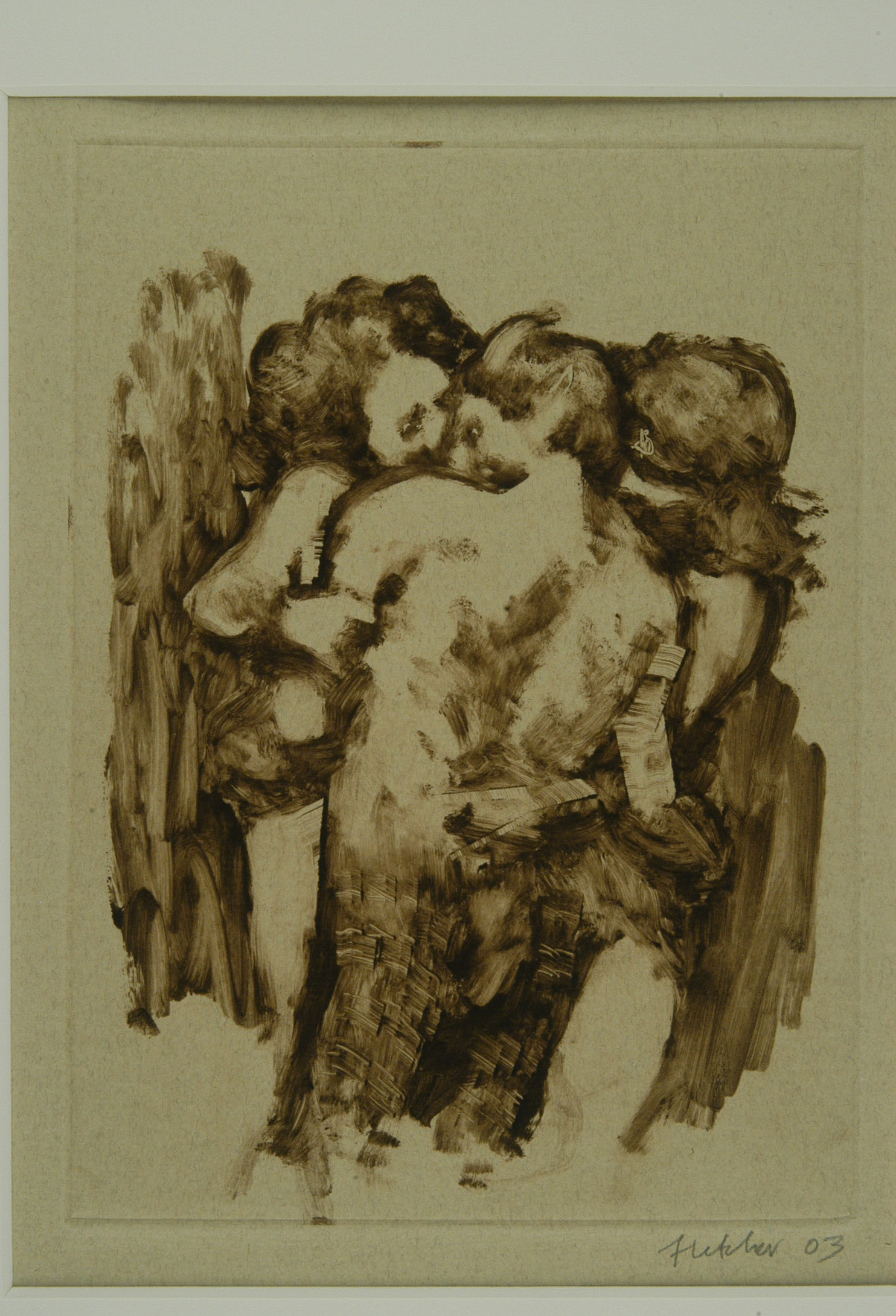Satyr With Two Nymphs