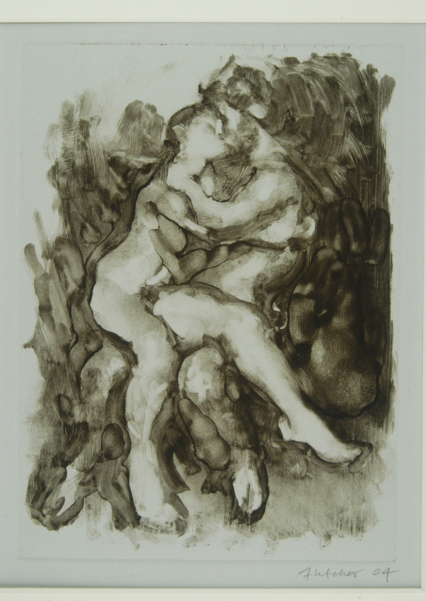 Kissing Satyr and Nymph