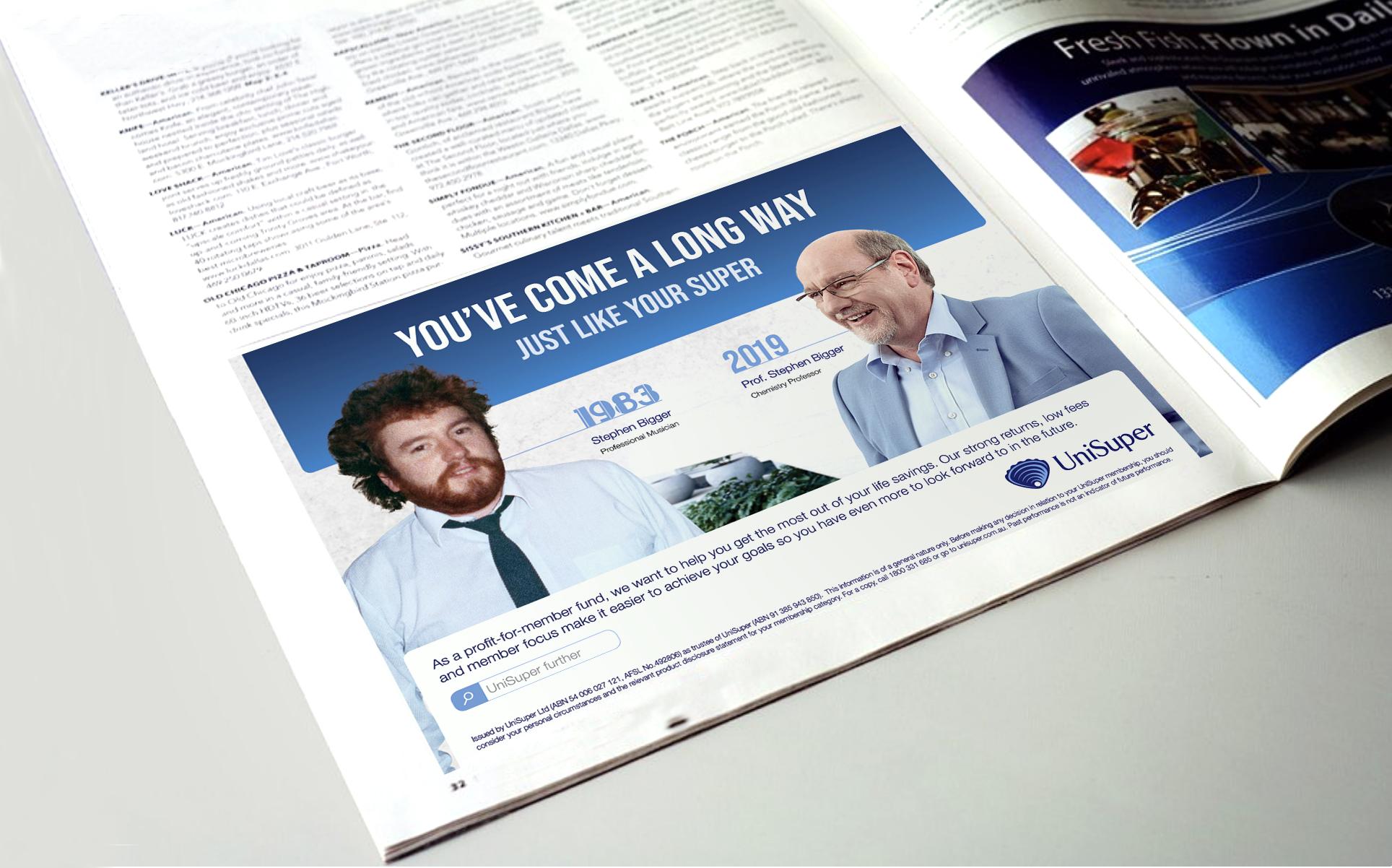 Brand half page ad