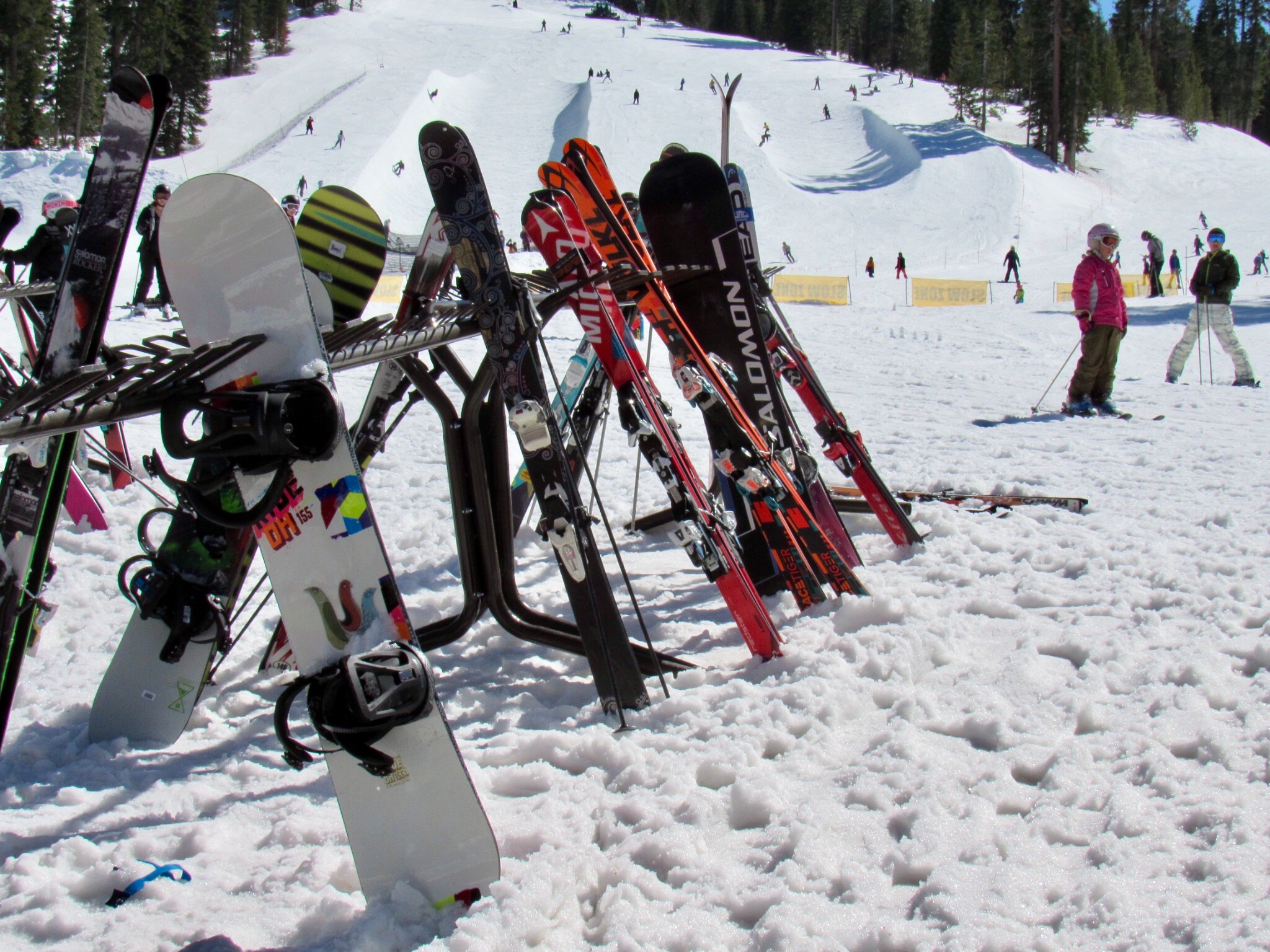 Snowboards at Northstar