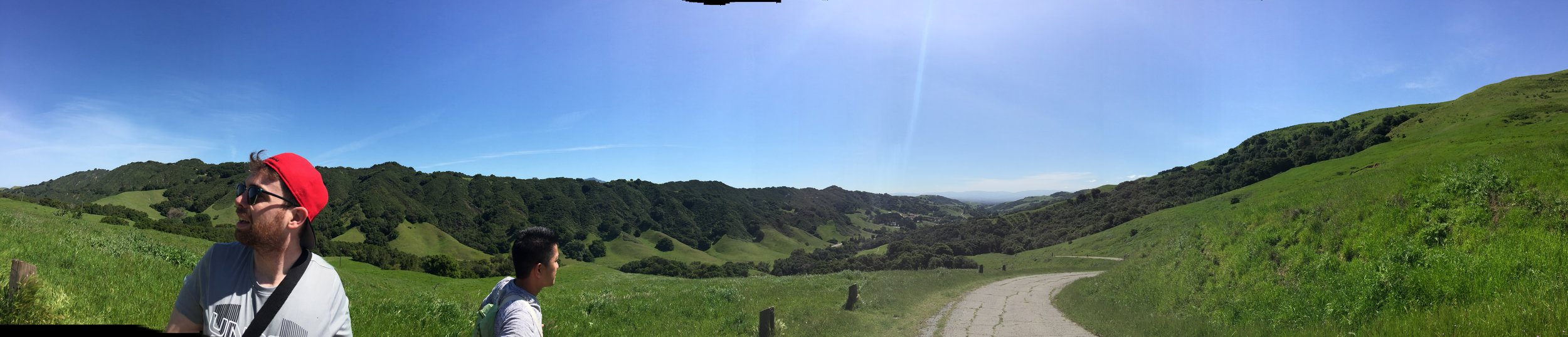 Panoramic view from the Rocky Ridge View Trail at Las Trampas Regional Wilderness.