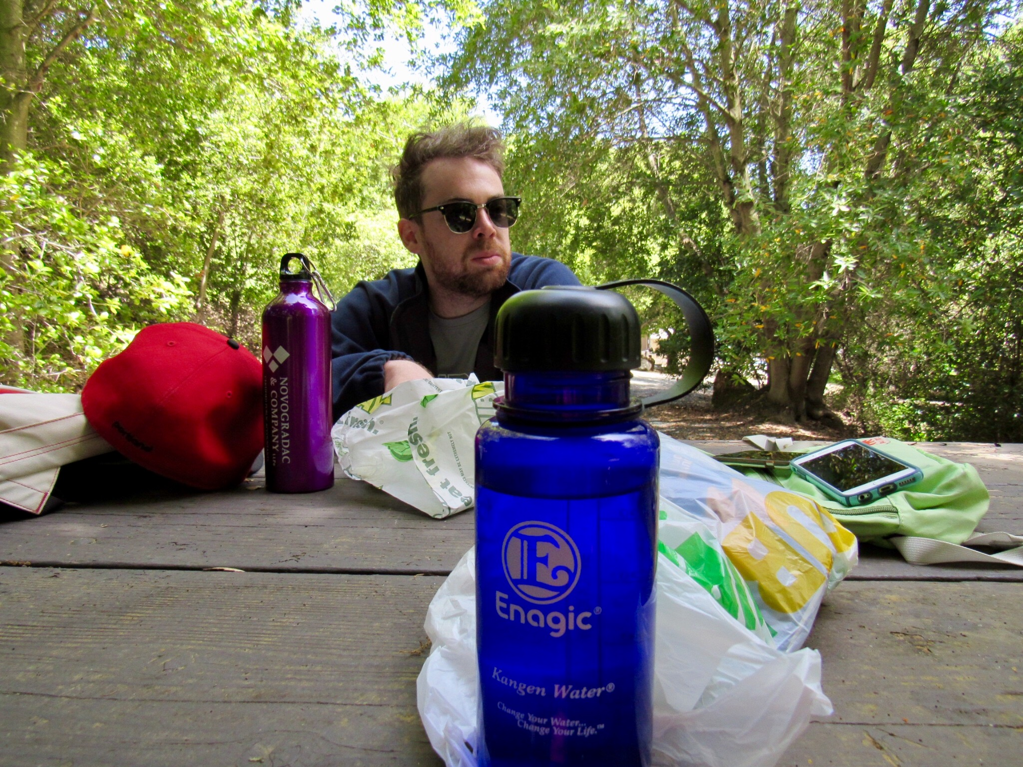 Las Trampas Regional Wilderness has a great picnic area, so feel free to pack a lunch. Subway is a always a great choice.