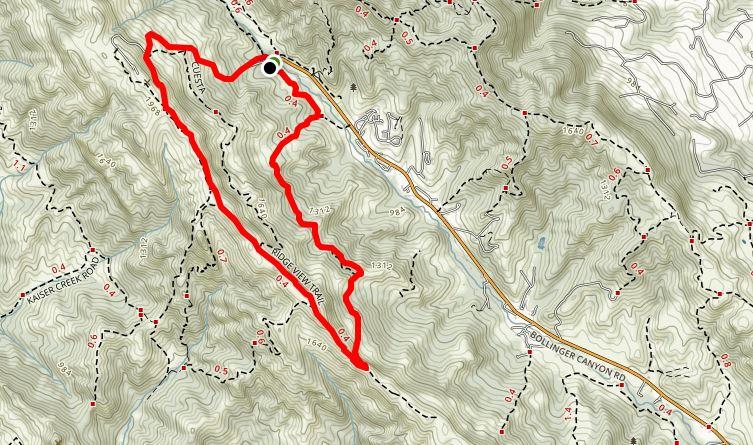 Rocky Ridge View Trail at Las Trampas Regional Wilderness.