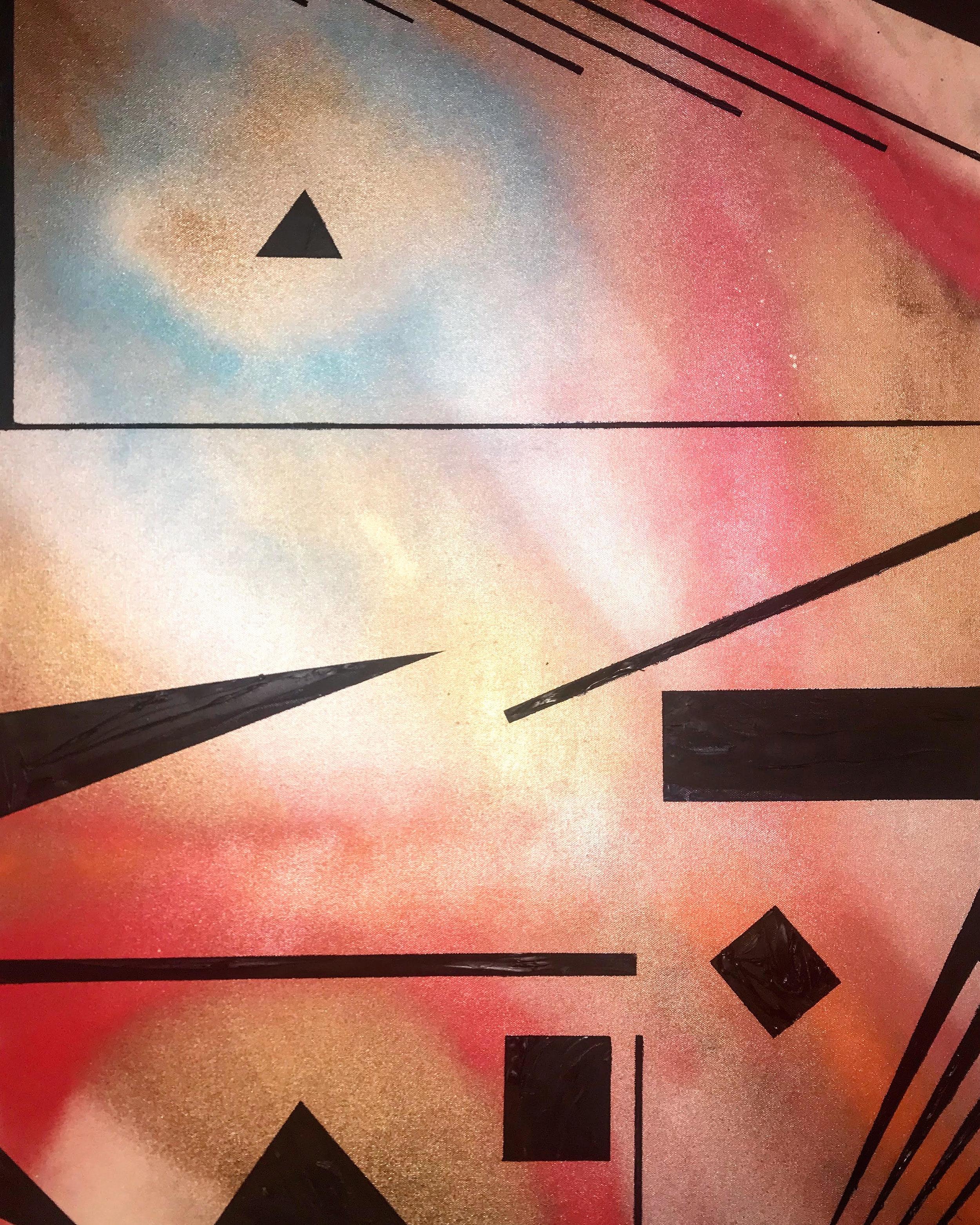 Focus/Unfocus - Spray Paint/Acrylic/Clay