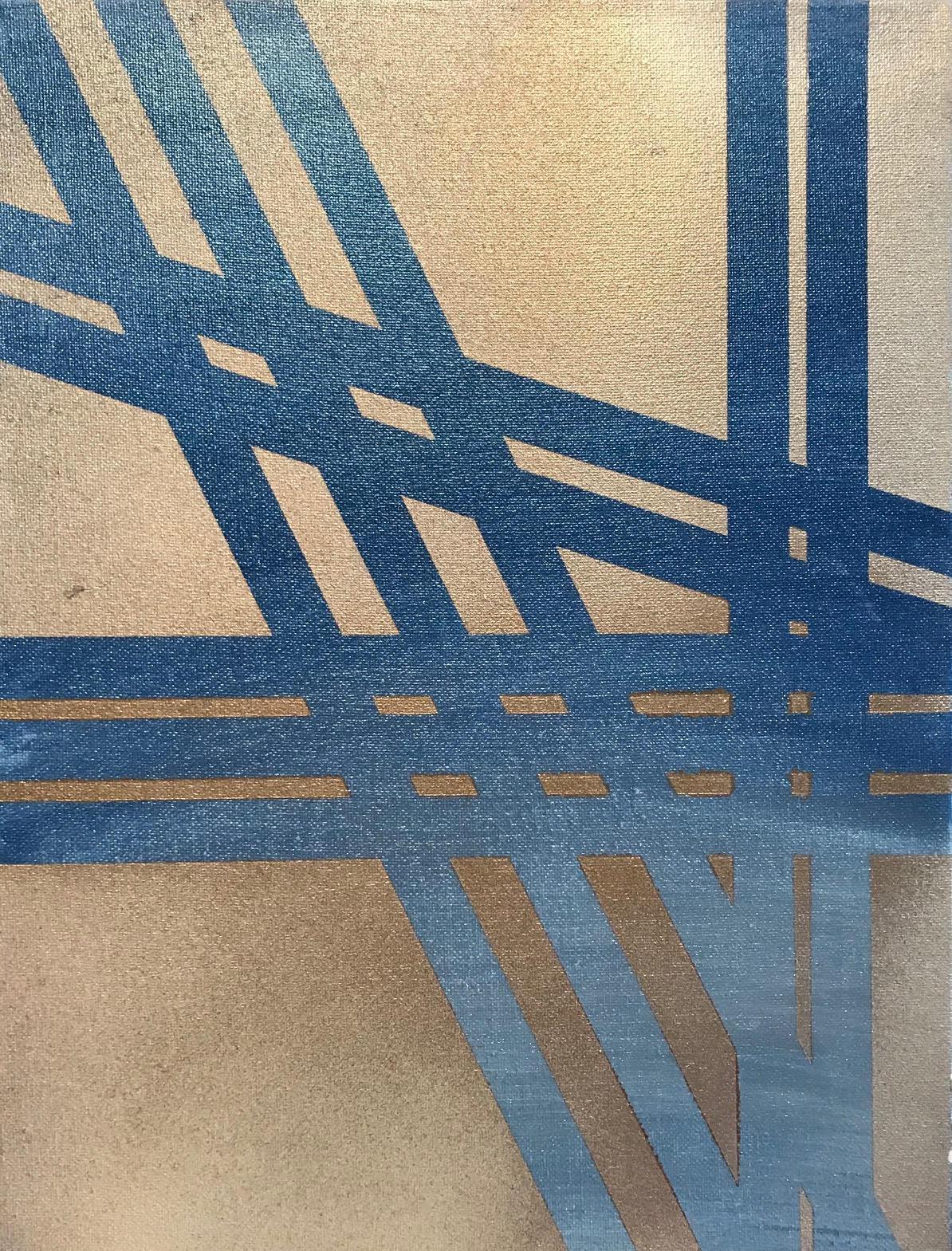Cranes for Days No 4 - Spray Paint/Acrylic