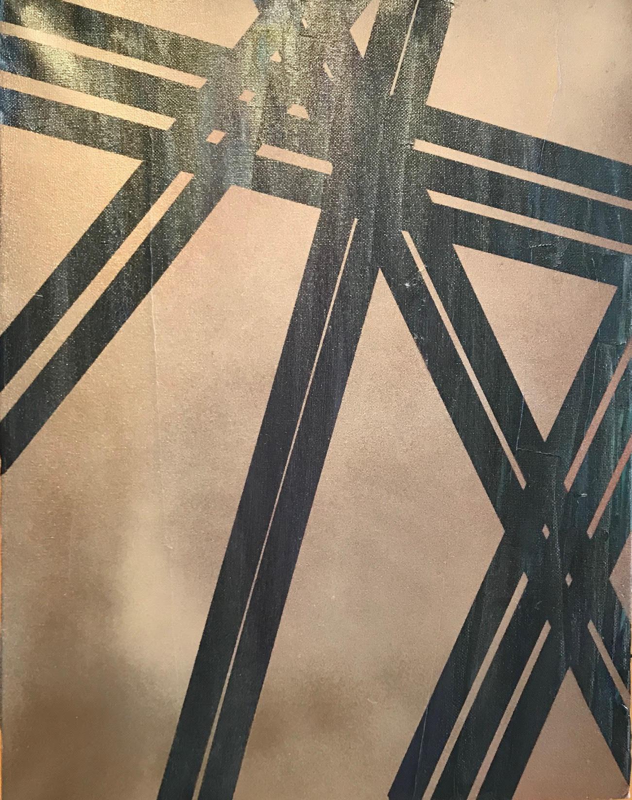 Cranes for Days No 5 - Spray Paint/Acrylic