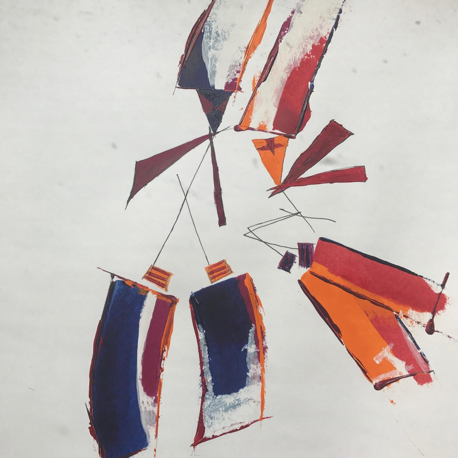 Dancers - Acrylic/Ink