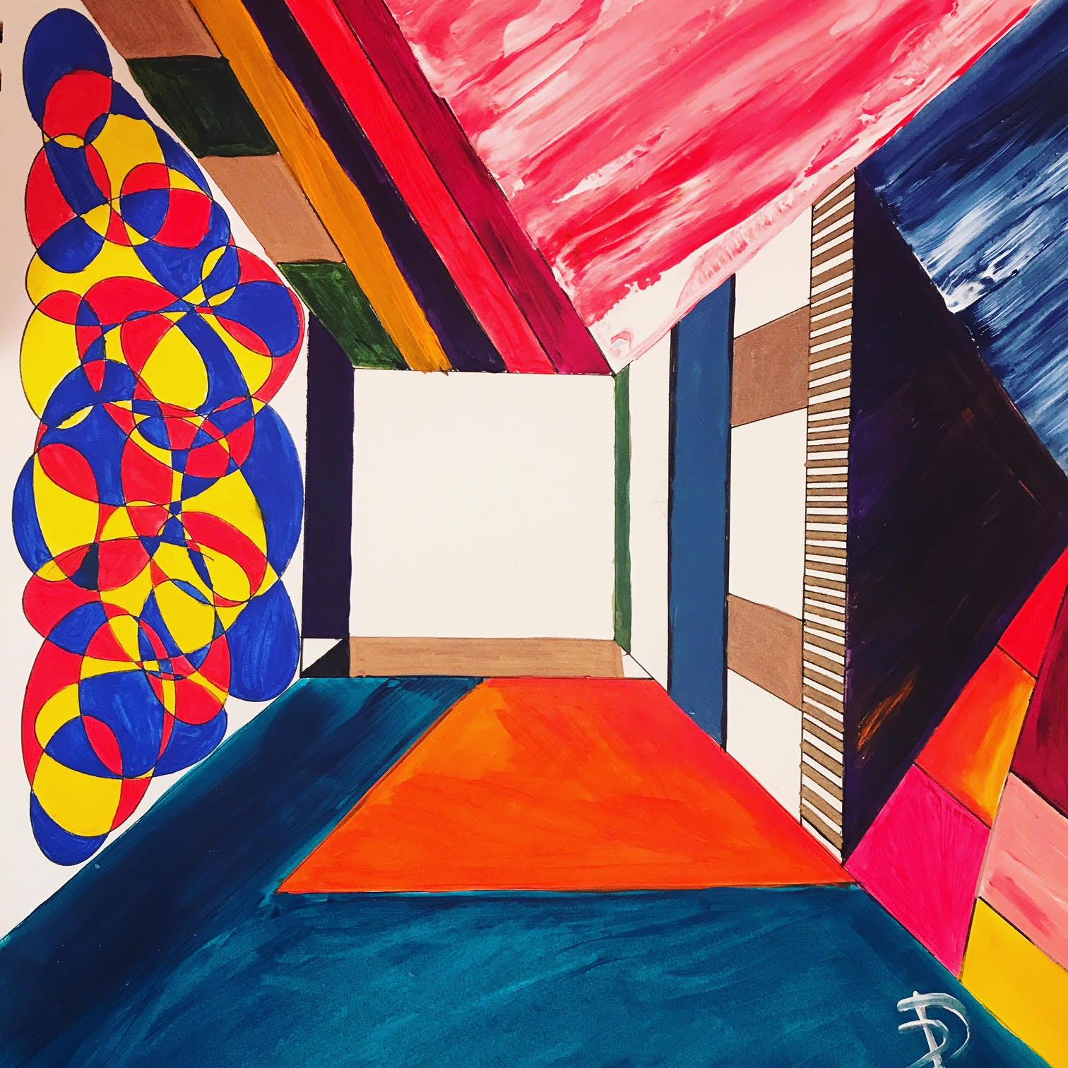 Corridor No 1 - Acrylic/Ink