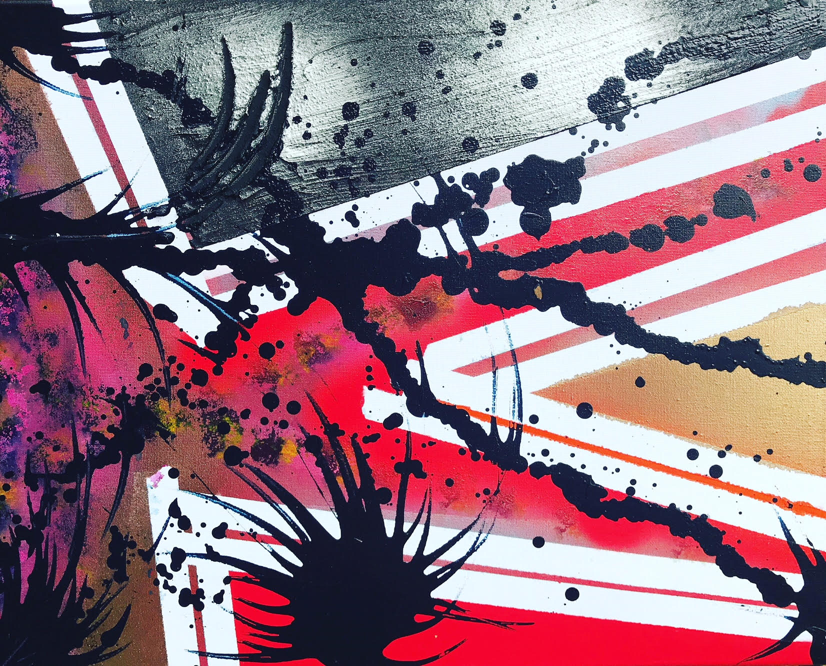 Brexit - Acrylic/Spray Paint/Pouring Medium/Clay