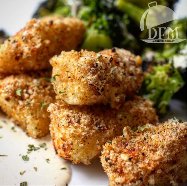 Completely Paleo Grain Free Guilt Free fish Sticks from Dinner for Mary's New Cook Book