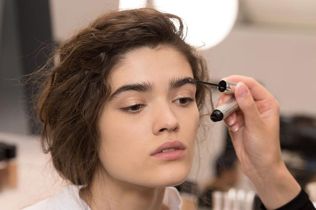 At Dior's winter show this year, the model's eyebrow look explored a more feathered style. Picture / Vincent Lappartient for Christian Dior Parfums